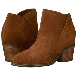 BOOTIES JESSICA SIMPSON WESTERN CHIC BROWN SUEDE
